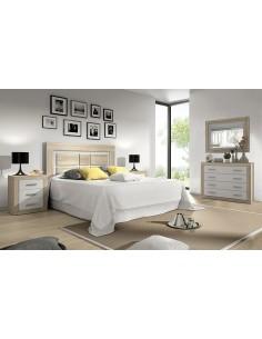 Dormitorio SARA blanco con cabezal de pie
