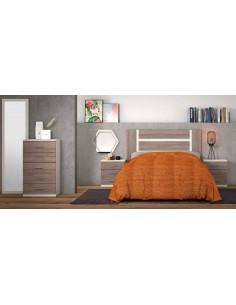 Dormitorio MONICA pino con cabezal de pie
