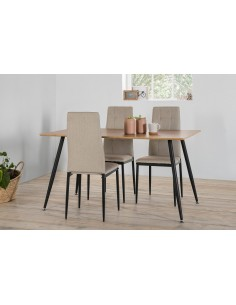 Set mesa + 4 sillas LANA