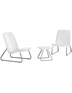 Mesa y 2 sillas RIO blanco