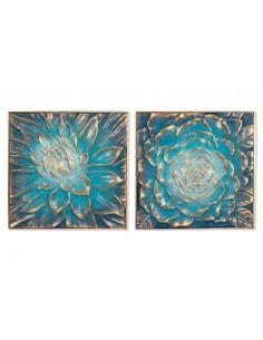 Cuadro FLOWER azul